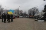 На донецком Евромайдане коммунальщики решили поменять дорожную плитку