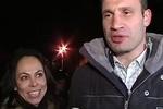 Кличко привел жену блокировать Банковую
