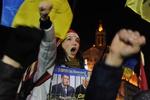 Очередная ночь на Евромайдане в Киеве прошла спокойно