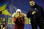 Кличко и Панеттьери выступили на Евромайдане