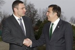 Саакашвили и Кличко за чашечкой кофе поговорили об Украине