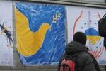 Евромайдан превратился в импровизированную арт-выставку