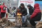 Как жгут костры на Евромайдане
