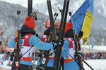 """За Майдан!"" - кричали украинские биатлонистки на пьедестале почета в Австрии"