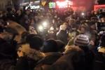 """После сноса памятника Ленину митингующие кричали: """"Слава Україні!"""""""
