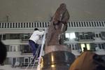 В милиции говорят, что за снос памятника Ленину никого не задерживали