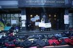 Под ГПУ начался запрещенный судом лежачий пикет