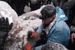 Митингующие с топорами: Ленин тяжело колется!