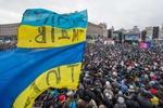 Митингующие формируют колонны  и бегут на Грушевского