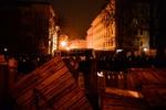 Под Кабмином полностью снесли баррикады митингующих