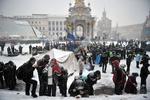 В Париже поддержали киевский Евромайдан