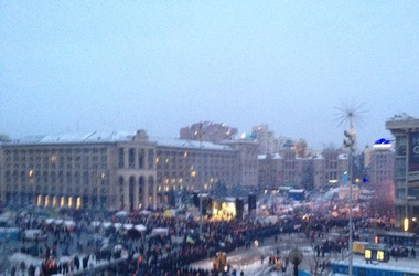 Хроника столкновений на Банковой в Киеве 1 декабря 2013 года