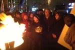Протестующие на Евромайдане праздновали победу всю ночь