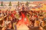На рождественской открытке Формулы-1 - свадьба Экклстоуна и Тодта