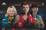 Олимпийские чемпионы стали героями рисованного календаря на 2014 год