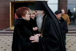 Людмила Янукович на семейный праздник приехала в меховой шубе и черном костюме