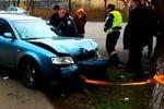 В Одессе пьяный автомобилист посадил авто на привязь