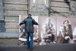 В Киеве появится еще один дом со старинными фотографиями вместо окон