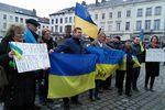 На акции протеста в Брюсселе потребовали ввести санкции против украинской власти