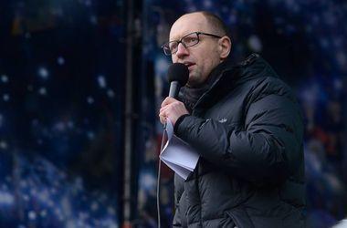 Яценюк объяснил, когда разойдется Майдан