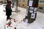 В центре Львова появилось дерево скорби по погибшим активистам Евромайдана