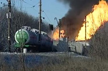 Масштабный пожар в Донбассе тушили 12 часов