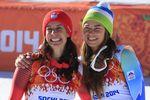 """Две спортсменки получили """"золото"""" в скоростном спуске в Сочи"""