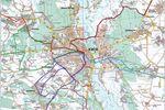 В сети появилась карта объезда перекрытых дорог в Киев (фото)