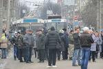 В Хмельницком люди перекрыли центр города