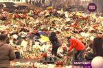 """9 дней со смерти героев """"Небесной сотни"""": Майдан утопает в цветах"""
