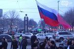Митинг в Запорожье: сторонники России пошли шествием по проспекту Ленина