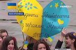 В Ивано-Франковске устроили флешмоб в поддержку украинских военных