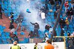 Чешские фанаты разгромили стадион в Остраве