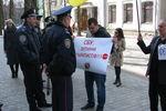 Здание харьковского СБУ пикетировали авто- и евромайдановцы