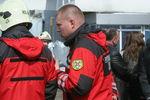 Киевские пожарные спасли бабушку, застрявшую между балконами