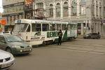 В Харькове трамвай вынесло на проезжую часть