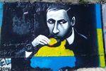 Одессит нарисовал граффити, посвященное Путину