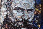 На КГГА появился портрет Шевченко из фотографий протестов на Майдане