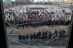 В Харькове пророссийские активисты на митинге требуют отпустить задержанных
