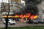 В Днепропетровске дотла сгорел рынок