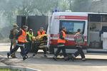 Киевские пожарные спасли женщину из пылающей квартиры