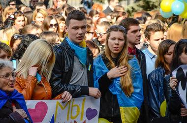 Луганские студенты вышли на митинг за Украину