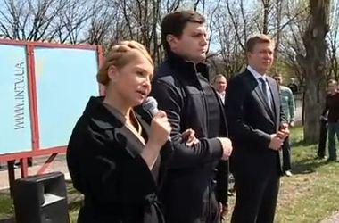 Тимошенко в Донецкой области встретилась с батальоном ППС