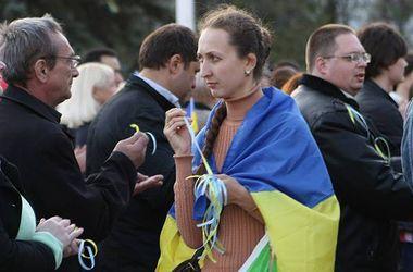 Как в Луганске прошел традиционный митинг за единство Украины