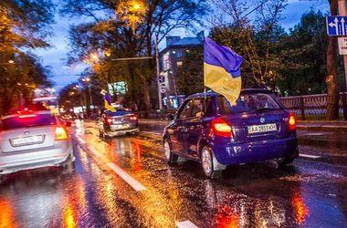 В Донецке прошел автопробег за единство Украины