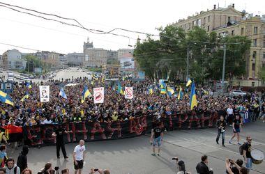 Акция ультрас в Харькове завершилась дракой с пророссийскими активистами