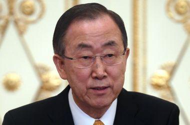 Генсек ООН требует немедленно освободить захваченную в Славянске миссию ОБСЕ
