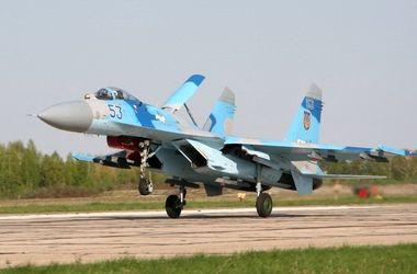 На Полесье тренировались военные летчики
