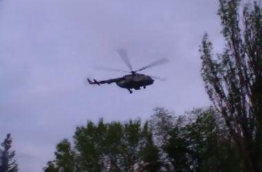 Обнародовано видео обстрела украинского вертолета террористами в Славянске