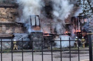 В центре Одессы неизвестные подожгли газовую трубу